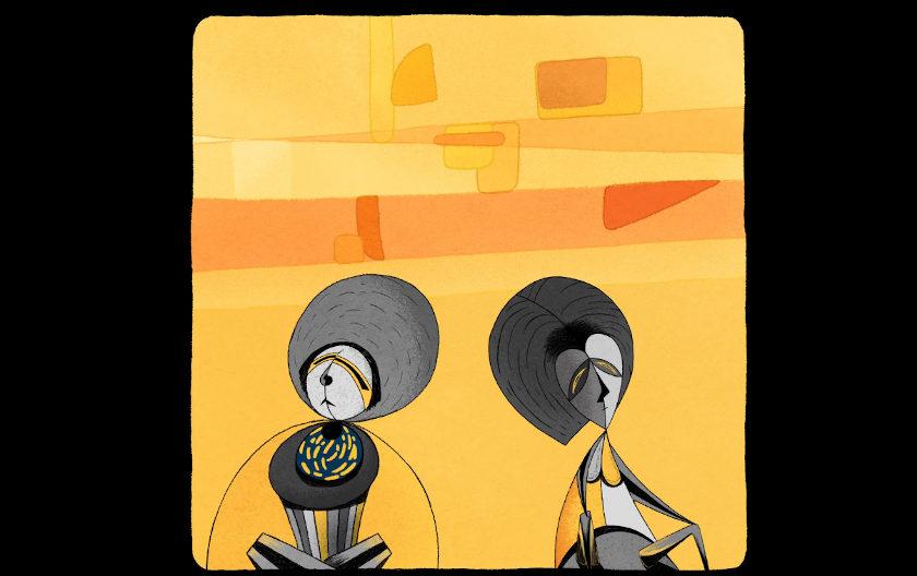 Black Snot & Golden Squares by Irina Rubina